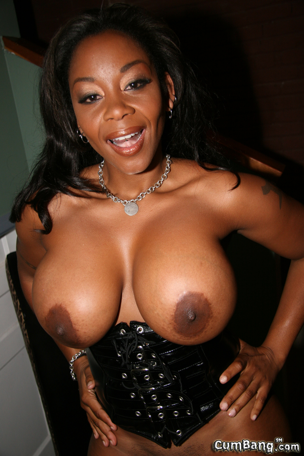 Big Tit Ebony Cum Swallow